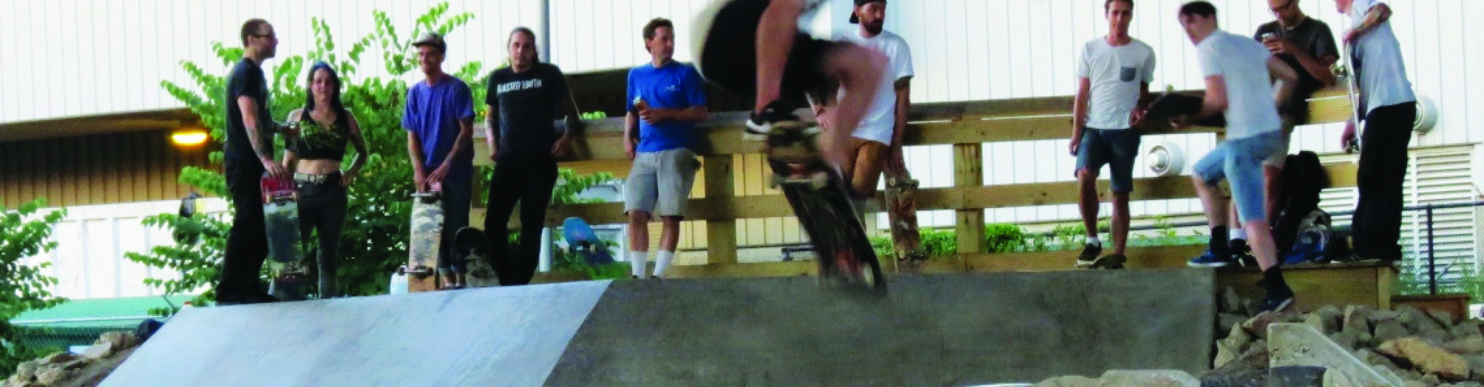 skateboarding at Grays Ferry Crescent