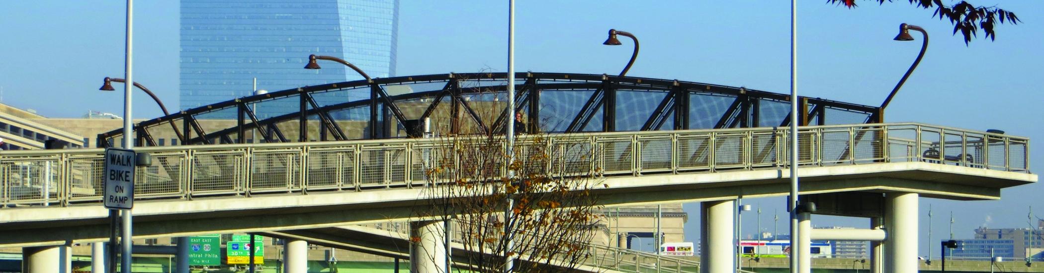 bridge to Schuylkill Banks in Philadelphia