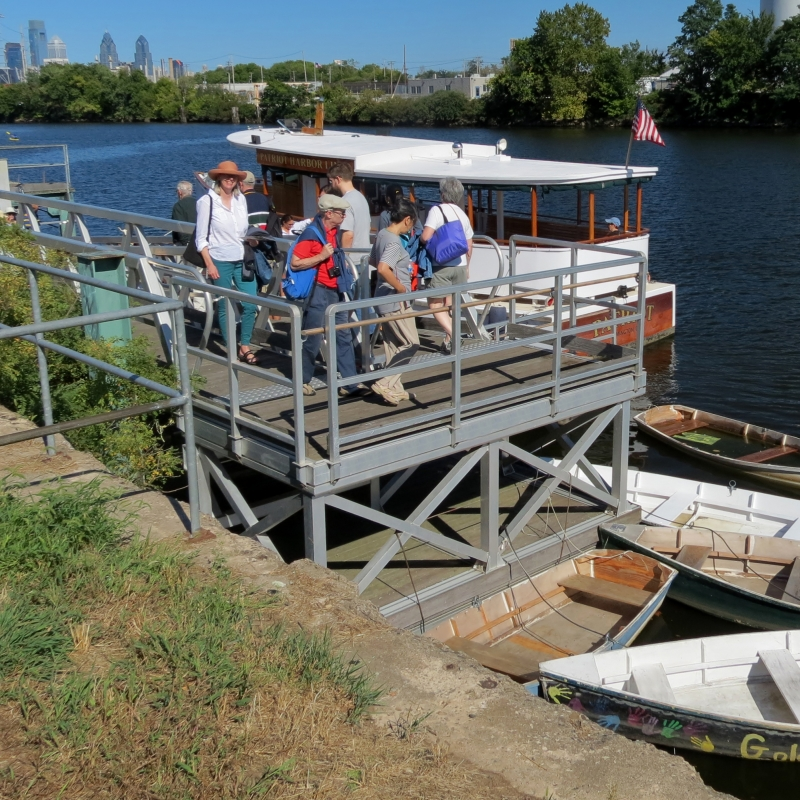floating dock at Bartram's Garden